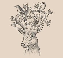 Deer with birds & leaves Unisex T-Shirt