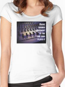 PA, mix, table, Women's Fitted Scoop T-Shirt