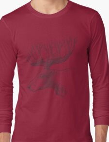 Deer with trees in the horns Long Sleeve T-Shirt