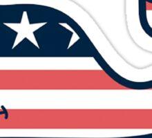 Vineyard Vines American Flag Whale Sticker