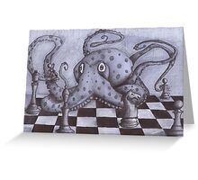 An Octopus Playing Chess Greeting Card