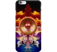 Music speaker on a cloud background iPhone Case/Skin