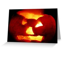 Happy Halloween Pumpkin 4: Sparks Fly Greeting Card
