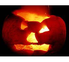 Happy Halloween Pumpkin 4: Sparks Fly Photographic Print