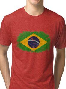Brazil Vintage Flag Tri-blend T-Shirt