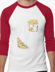 Pocketed Monsters - Static Fuzz Men's Baseball ¾ T-Shirt