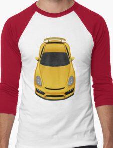 Porsche cayman GT4 (yellow) Men's Baseball ¾ T-Shirt