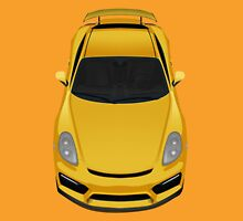 Porsche cayman GT4 (yellow) Unisex T-Shirt