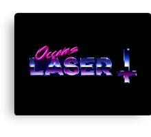 Occams Laser Chrome Cross Logo Canvas Print