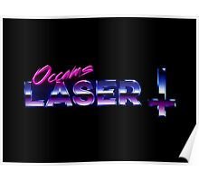 Occams Laser Chrome Cross Logo Poster