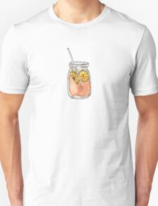 Mason Jar Summer Sun Ice Tea in Watercolor Unisex T-Shirt
