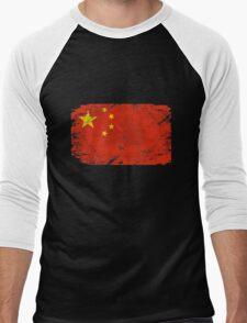 China vintage flag Men's Baseball ¾ T-Shirt
