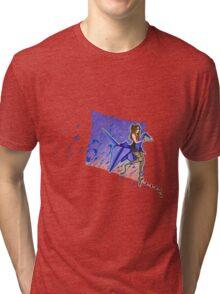 Origami Crane Tri-blend T-Shirt