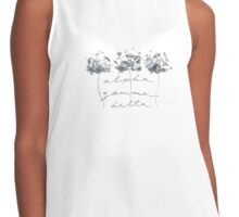 Alpha Gamma Delta Black and White Roses Contrast Tank