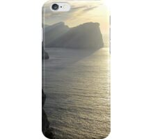 Cliffs in the sunset iPhone Case/Skin