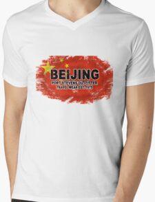 China vintage flag Mens V-Neck T-Shirt