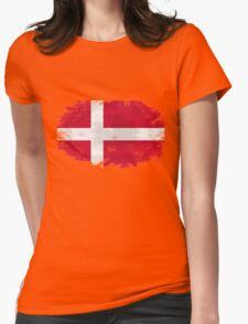 Denmark vintage flag Womens Fitted T-Shirt