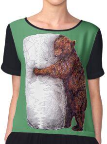 BEAR-rito Bear Hugs Chiffon Top