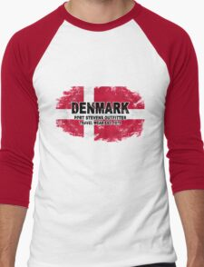 Denmark vintage flag Men's Baseball ¾ T-Shirt