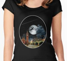 Sailing in the Night - Peter Pan London Scene Women's Fitted Scoop T-Shirt