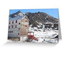 Mining in the Mountains Greeting Card