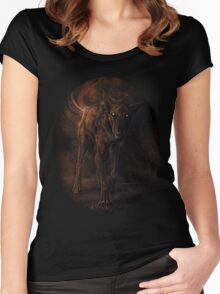 black beast Women's Fitted Scoop T-Shirt