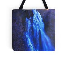 Blue waterfall Tote Bag