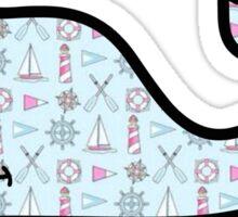 Nautical Print Vineyard Vines Whale Sticker