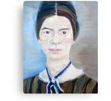 EMILY DICKINSON - oil portrait Canvas Print