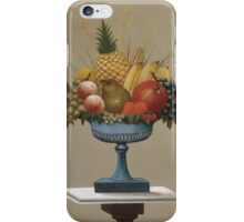 Fruit with Blue-footed Bowl, Charles Sidney Raleigh () iPhone Case/Skin