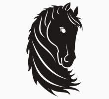 Horse head art Kids Tee