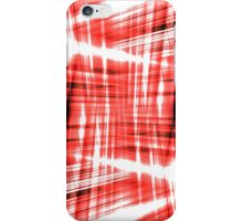 Black and red streaks iPhone Case/Skin