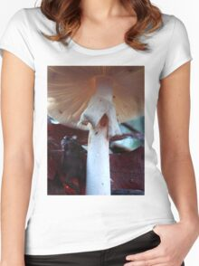 'Neath The Mushroom Women's Fitted Scoop T-Shirt