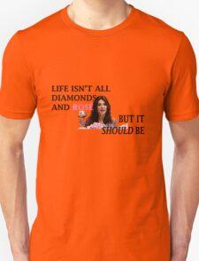 Life Is Diamonds and Rosé Unisex T-Shirt