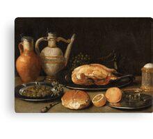 Georg Flegel, circle of, Breakfast Still Life Canvas Print