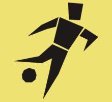 Soccer player cartoon art Baby Tee