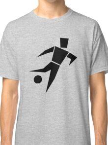 Soccer player cartoon art Classic T-Shirt