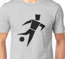 Soccer player cartoon art Unisex T-Shirt