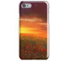sunset landscape iPhone Case/Skin