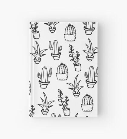 Succulents - Black & White Hardcover Journal