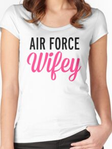 Air Force Wifey Quote Women's Fitted Scoop T-Shirt