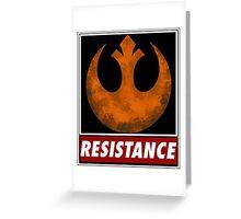 star wars resistance symbol Greeting Card