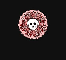 Pink and Red Skull Womens Fitted T-Shirt