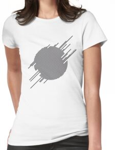 ABshapes in a disc  Womens Fitted T-Shirt