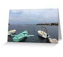 Boats In Dubrovnik - Croatia Greeting Card