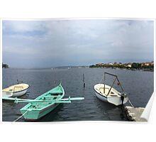 Boats In Dubrovnik - Croatia Poster