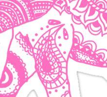 Patterned Elephant - Pink Sticker