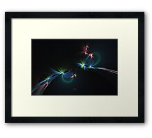 Fey Lights Fractal in Aurora 01 Framed Print