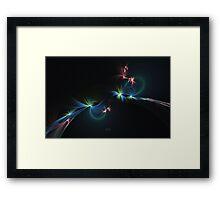 Fey Lights Fractal in Aurora 01 Framed Print
