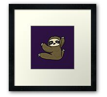 Climbing Sloth Framed Print